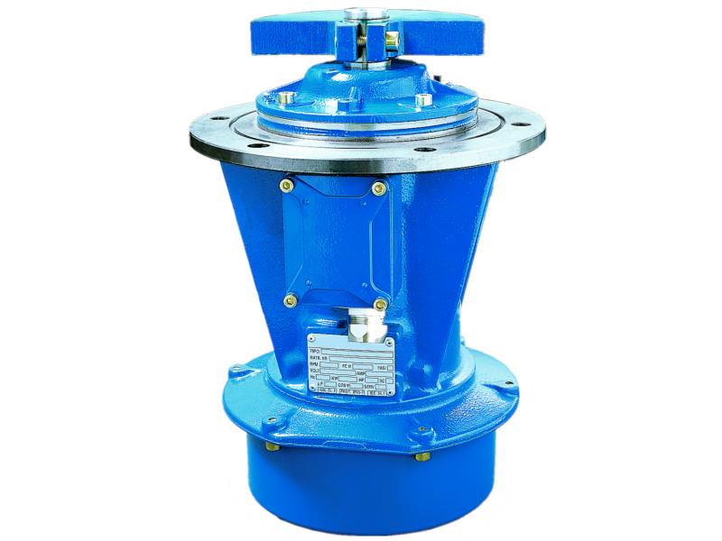 - Vibrador industrial serie EBST (brida lateral)