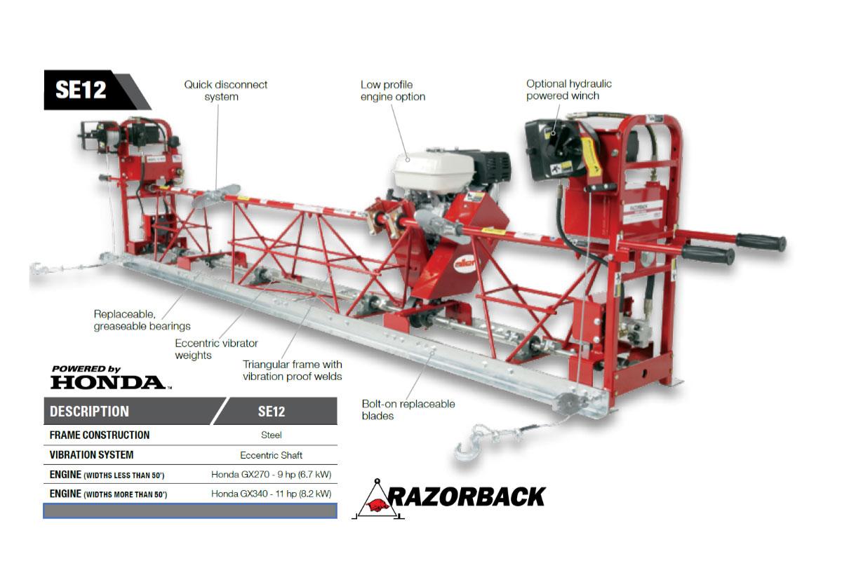 ALLEN ENGINEERING mondialement connue et reconnue pour sa célèbre règle vibrante modulaire RAZORBACK