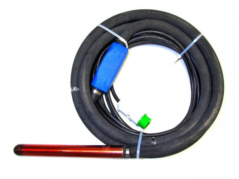 - Aguja vibrante para hormigón serie PEA (con doble protección térmica integral)