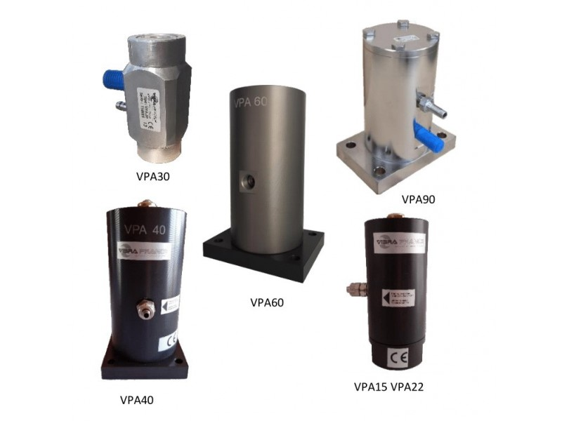 - Pneumatic Vibrator  VPA Models (Air cushion piston)